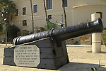 Israel, Tel Aviv-Yafo, a coastal cannon from the Ottoman period in Old Jaffa