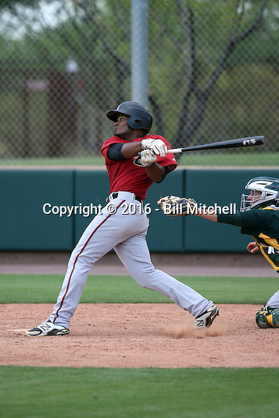 Quinnton Mack - Arizona Diamondbacks 2016 extended spring training (Bill Mitchell)