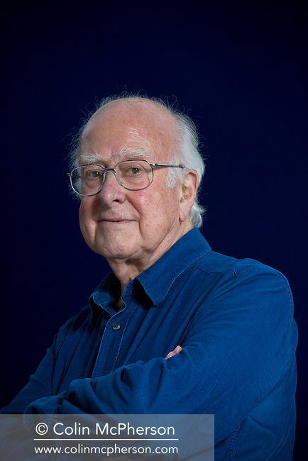 Acclaimed British theoretical physicist and the man who discovered the theory behind the Higgs Boson particle, Peter Higgs, pictured at the Edinburgh International Book Festival where he talked about his work and career. The three-week event is the world's biggest literary festival and is held during the annual Edinburgh Festival. The 2012 event featured talks and presentations by more than 500 authors from around the world.