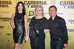 "Spanish actors Melanie Olivares (Left) Marisol Ayuso (Center) and Secun de la Rosa (Right) attend the Premiere of the movie ""Carmina y Amen"" at the Callao Cinema in Madrid, Spain. April 28, 2014. (ALTERPHOTOS/Carlos Dafonte)"