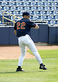 June 7, 2004:  Aaron Laffey of the Lake County Captains, Low-A South Atlantic League affiliate of the Cleveland Indians, during a game at Classic Park in Eastlake, OH.  Photo by:  Mike Janes/Four Seam Images