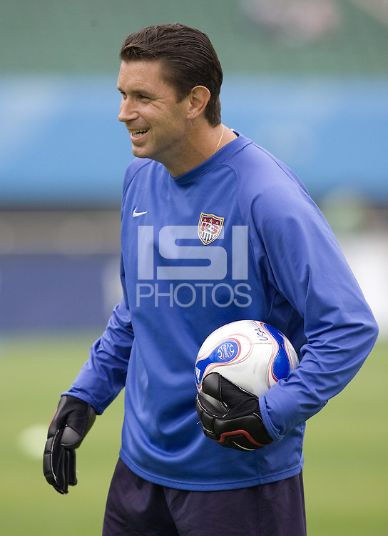 USA goalkeeper coach Phil Wheddon during pre-game warmups. The United States (USA) and North Korea (PRK) played to a 2-2 tie during a FIFA Women's World Cup China 2007 opening round Group B match at Chengdu Sports Center Stadium, Chengdu, China, on September 11, 2007.