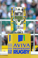 The Aviva Premiership Rugby trophy on display after the Final between Bath Rugby and Saracens at Twickenham Stadium on Saturday 30th May 2015 (Photo by Rob Munro)