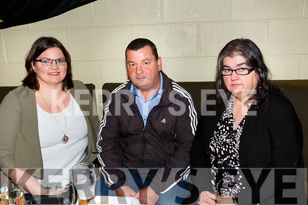 Austin Stacks Ladies celebrate the 40th anniversary of their 1st Senior County Championship win in 1977 at Austin Stacks Clubhouse on Saturday. Pictured Laura Kelliher, Martin Lawlor and Eileen Kelliher