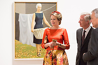King Philippe & Queen Mathilde of Belgium on a State Visit to Canada - National gallery - Ottawa