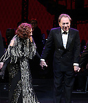 Glenn Close and Andrew Lloyd Webber during the Opening Night Curtain Call bows for Andrew Lloyd Webber's 'Sunset Boulevard' at the Palace Theatre on February 9, 2017 in New York City.