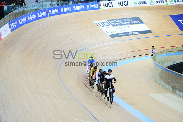 Picture by Richard Blaxall/SWpix.com - 13/04/2017 - Cycling - 2017 UCI Track Cycling World Championships - Hong Kong Velodrome, Tseung Kwan O, Hong Kong - the,brief,marketing,tissot,santini,tacx,shimano,