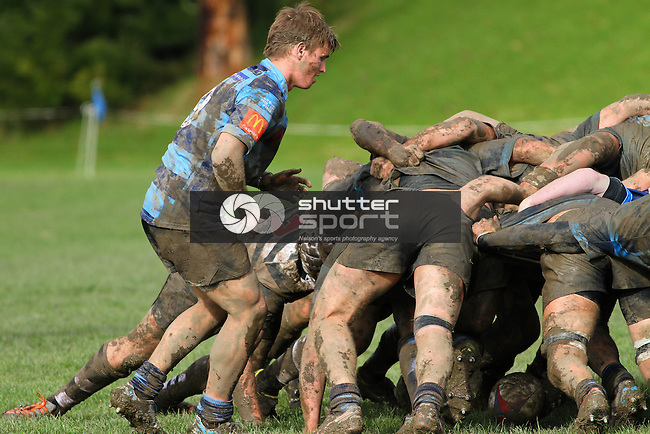 NELSON, NEW ZEALAND - JUNE 6:  UC Championship match between Nelson College and Christs College at Nelson College  Park on June 6, 2015 in Nelson, New Zealand. (Photo by Marc Palmano/Shuttersport Limited)