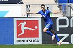 20.06.2020, xmeix, 1.Fussball Bundesliga, TSG 1899 Hoffenheim - 1.FC UNion Berlin, empor. v.l.n.r, <br /> Jubel zum  2:0 für Hoffenheim durch Andrej Kramaric (TSG 1899 Hoffenheim)<br /> <br /> <br /> <br /> Foto: Sascha Meiser/APF/Pool/PIX-Sportfotos<br /> <br /> Nur für journalistische Zwecke!<br /> Only for editorial use!<br /> Nutzungsbedingungen: http://poolbilder.de/nutzungsvereinbarung.pdf
