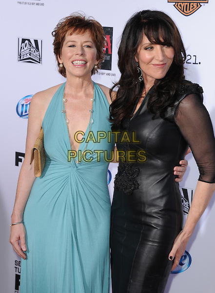 McNally Sagal and Katey Sagal<br /> &quot;Sons of Anarchy&quot; Season Six Premiere Screening held at the Dolby Theatre, Hollywood, California, USA.<br /> September 7h, 2013<br /> full length dress sheer black leather Sister-in-Law blue halterneck<br /> CAP/DVS<br /> &copy;DVS/Capital Pictures
