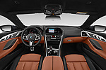 Stock photo of straight dashboard view of a 2019 BMW 8 Series M Sport 2 Door Coupe