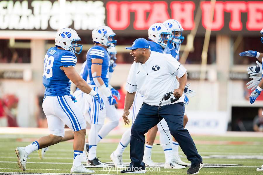 16FTB at Utah 1117<br /> <br /> 16FTB at Utah<br /> <br /> BYU Football at Utah - Deseret First Duel<br /> <br /> BYU-19<br /> Utah-20<br /> <br /> September 10, 2016<br /> <br /> Photo by Jaren Wilkey/BYU<br /> <br /> &copy; BYU PHOTO 2016<br /> All Rights Reserved<br /> photo@byu.edu  (801)422-7322