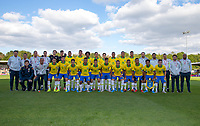 Brazil team & staff photo pre match during the Under 18 International friendly match between England U18 & Brazil U18 at Hednesford Town Football Club, Keys Park, Cannock on 8 September 2019. Photo by Andy Rowland.