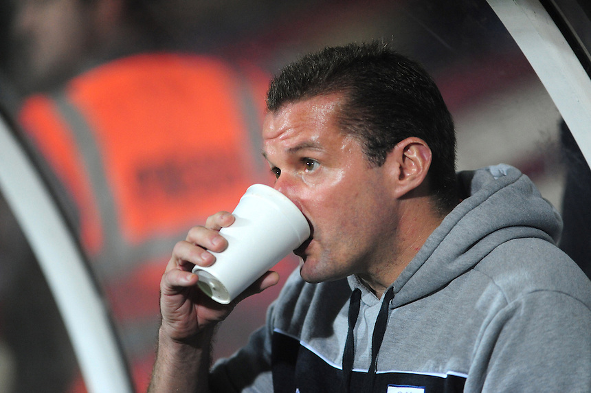 Preston North End's Manager Graham Westley ..Football - npower Football League Division One - Scunthorpe United v Preston North End - Tuesday 23rd October 2012 - Glanford Park - Scunthorpe..