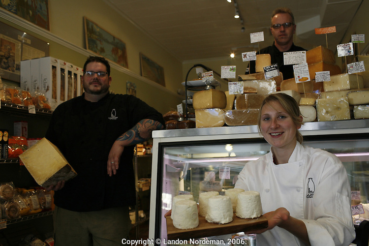 Farmstead Cheese Shop in Providence, RI. Matt and Kate Jennings are the owners. Photo by Landon Nordeman