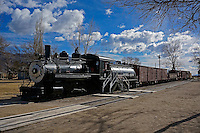 Engine # 9 at Laws Railroad Museum in Bishop California