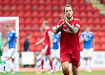 St Johnstone v Aberdeen&hellip;15.09.18&hellip;   McDiarmid Park     SPFL<br />Stevie May applauds the dons fans as he is substituted<br />Picture by Graeme Hart. <br />Copyright Perthshire Picture Agency<br />Tel: 01738 623350  Mobile: 07990 594431