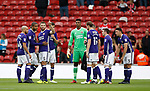 Waiting to complete the team huddle during the Championship match at the Riverside Stadium, Middlesbrough. Picture date: August 12th 2017. Picture credit should read: Simon Bellis/Sportimage