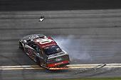 #20: Erik Jones, Joe Gibbs Racing, Toyota Camry buyatoyota.com, does a burnout after winning