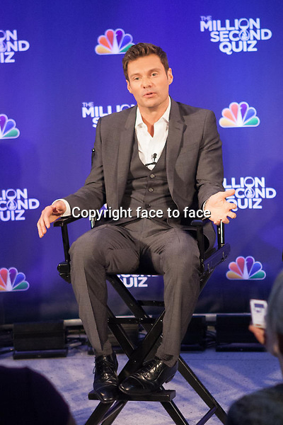 NEW YORK, NY - AUGUST 28: Ryan Seacrest attends 'The Million Second Quiz' Cocktail Reception on August 28, 2013 in New York City. <br />
