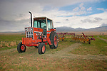 1970s International Farmall tractor with rakewheel, Blue Creek Valley