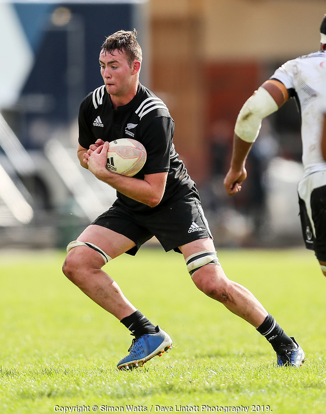 Allen Craig in action during the rugby union match between New Zealand Schools and Fiji Schools at Hamilton Boys' High School in Hamilton, New Zealand on Monday, 30 September 2019. Photo: Simon Watts / lintottphoto.co.nz