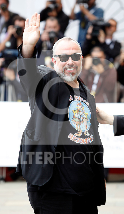 Director Alex de la Iglesia arrives to Maria Cristina Hotel to attend the 61 San Sebastian Film Festival, in San Sebastian, Spain. September 20, 2013. (ALTERPHOTOS/Victor Blanco)