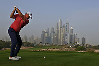 Peter Hanson (SWE) on the 8th tee during Round 1 of the Omega Dubai Desert Classic, Emirates Golf Club, Dubai,  United Arab Emirates. 24/01/2019<br /> Picture: Golffile | Thos Caffrey<br /> <br /> <br /> All photo usage must carry mandatory copyright credit (&copy; Golffile | Thos Caffrey)