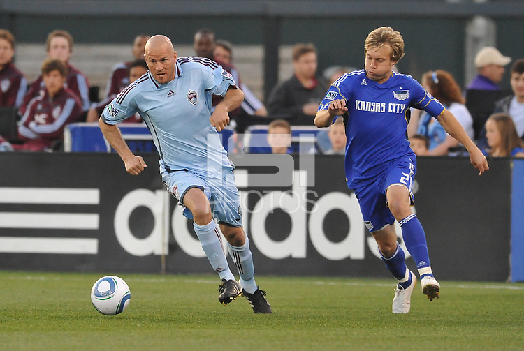 Conor Casey #9, Michael Harrington...Kansas City Wizards defeated Colorado Rapids 1-0 at Community America Ballpark, Kansas City, Kansas.