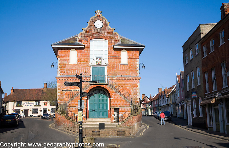 The Shire Hall built 1575 by Thomas Seckford on Market Hill, Woodbridge, Suffolk, England