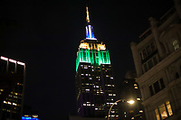NOVA YORK, EUA, 07.09.2019 - DIA-INDEPENDENCIA - O Empire State Building é visto iluminado com as cores da bandeira brasileira em homenagem ao dia da Independencia do Brasil na cidade de Nova York nos Estados Unidos neste sábado, 07. (Foto: William Volcov/Brazil Photo Press)