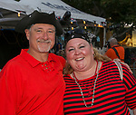 Mark and Kristina during the Pirate Crawl in downtown Reno on Saturday, August 17, 2019.