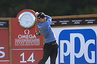 Haydn Porteous (RSA) tees off the 14th tee during Thursday's Round 1 of the 2017 Omega European Masters held at Golf Club Crans-Sur-Sierre, Crans Montana, Switzerland. 7th September 2017.<br /> Picture: Eoin Clarke | Golffile<br /> <br /> <br /> All photos usage must carry mandatory copyright credit (&copy; Golffile | Eoin Clarke)