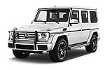 2016 Mercedes Benz G-Class G550 5 Door SUV Angular Front stock photos of front three quarter view