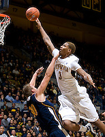 Richard Solomon of California prepares to dunk the ball during the game against UC Irvine at Haas Pavilion in Berkeley, California on November 11th, 2011.  California defeated UC Irvine, 77-56.