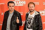 "Spanish actors Alfonso Sanchez and Alberto Lopez during the presentation of the film ""Ocho Apellidos Catalanes"" in Madrid, November 17, 2015.<br /> (ALTERPHOTOS/BorjaB.Hojas)"