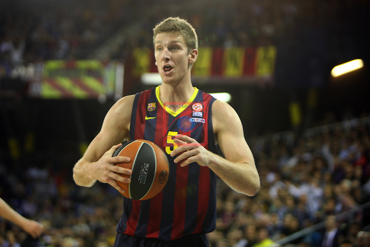 Euroleague Basketball-Regular Season Round 5.<br /> FC Barcelona vs Panathinaikos Athens: 78-69.<br /> Justin Doellman.