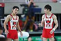 (L to R) <br /> Kenzo Shirai, <br /> Kohei Uchimura (JPN), <br /> AUGUST 3, 2016 - Artistic Gymnastics : <br /> Men's Official Training <br /> Vault <br /> at Rio Olympic Arena <br /> during the Rio 2016 Olympic Games in Rio de Janeiro, Brazil. <br /> (Photo by YUTAKA/AFLO SPORT)
