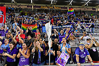 Orlando, FL - Saturday July 20, 2019:   Fans during a regular season National Women's Soccer League (NWSL) match between the Orlando Pride and the Sky Blue FC at Exploria Stadium.