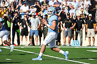 CHAPEL HILL, NC - SEPTEMBER 21: Sam Howell #7 of the University of North Carolina drops back to pass during a game between Appalachian State University and University of North Carolina at Kenan Memorial Stadium on September 21, 2019 in Chapel Hill, North Carolina.