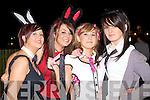 FESTIVE FUN: Having great fun at the Banna hotel Halloween Party on Saturday l-r: Sharon Somers, Abbeydorney, Chloe Mullins, Lixnaw, Suzanne Rigney, Abbeydorney and Sarah Galloway, Ballyheigue.
