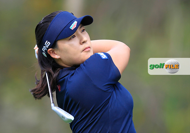 In Gee Chun (KOR) on the 12th tee during Round 1 of the Honda LPGA Thailand on Thursday 23rd February 2017.<br /> Picture:  Thos Caffrey / Golffile