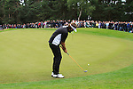 Jose Manuel Lara (ESP) takes his putt on the 10th green during Day 3 of the BMW PGA Championship Championship at, Wentworth Club, Surrey, England, 28th May 2011. (Photo Eoin Clarke/Golffile 2011)