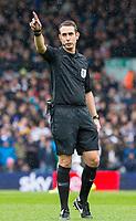 Referee David Coote<br /> <br /> Photographer Alex Dodd/CameraSport<br /> <br /> The EFL Sky Bet Championship - Leeds United v Sheffield United - Saturday 16th March 2019 - Elland Road - Leeds<br /> <br /> World Copyright © 2019 CameraSport. All rights reserved. 43 Linden Ave. Countesthorpe. Leicester. England. LE8 5PG - Tel: +44 (0) 116 277 4147 - admin@camerasport.com - www.camerasport.com