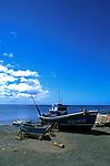Fishing boats on the beach, Punta Negra.Fuerteventura, Canary Islands, Spain