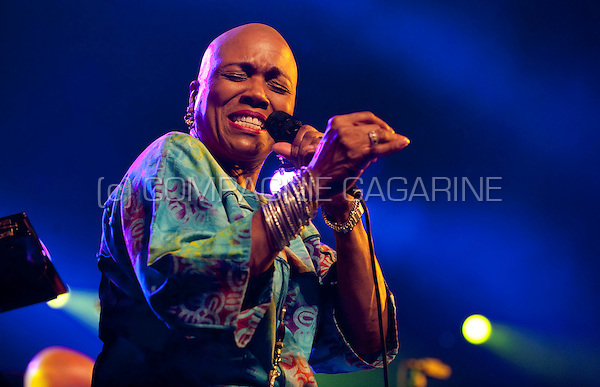 American jazz singer Dee Dee Bridgewater at the Jazz Middelheim festival in Antwerp (Belgium, 14/08/2009)