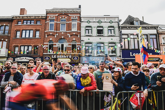 Binche welcomes the Tour before Stage 3 of the 2019 Tour de France running 215km from Binche, Belgium to Epernay, France. 8th July 2019.<br /> Picture: ASO/Pauline Ballet | Cyclefile<br /> All photos usage must carry mandatory copyright credit (© Cyclefile | ASO/Pauline Ballet)