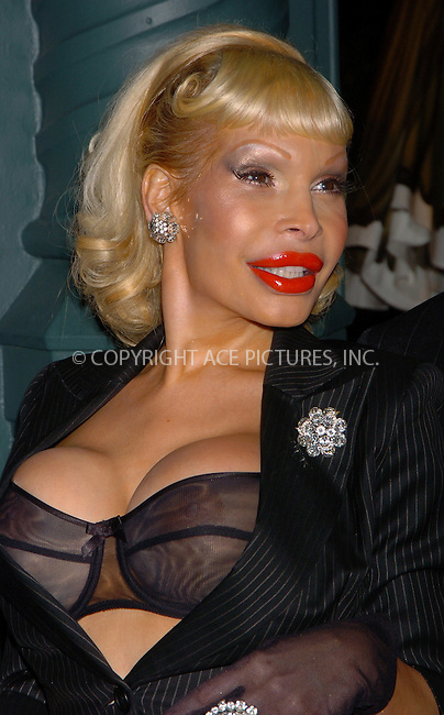 WWW.ACEPIXS.COM . . . . .  ....NEW YORK, APRIL 18, 2006....Amanda Lepore at Prada as they hosts the 'Waist Down Exhibition' opening held at the Prada Epicenter Store.....Please byline: AJ Sokalner - ACEPIXS.COM.... *** ***..Ace Pictures, Inc:  ..Philip Vaughan (212) 243-8787 or (646) 769 0430..e-mail: info@acepixs.com..web: http://www.acepixs.com