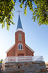 Historic and recently restored St. Augustine's Catholic Church, built 1865, Austin, Nev.