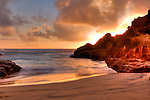 Early morning sunrise at eternity beach. Located below the blowhole lookout in Hawaii Kai on Oahu.
